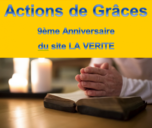 Actions de graces la verite