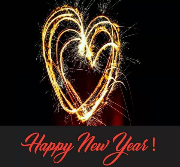 Bonne annee 2019 coeur