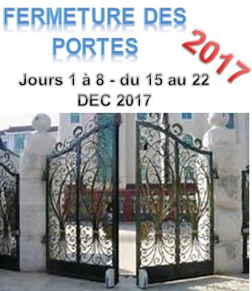 Fermeture des portes 2017